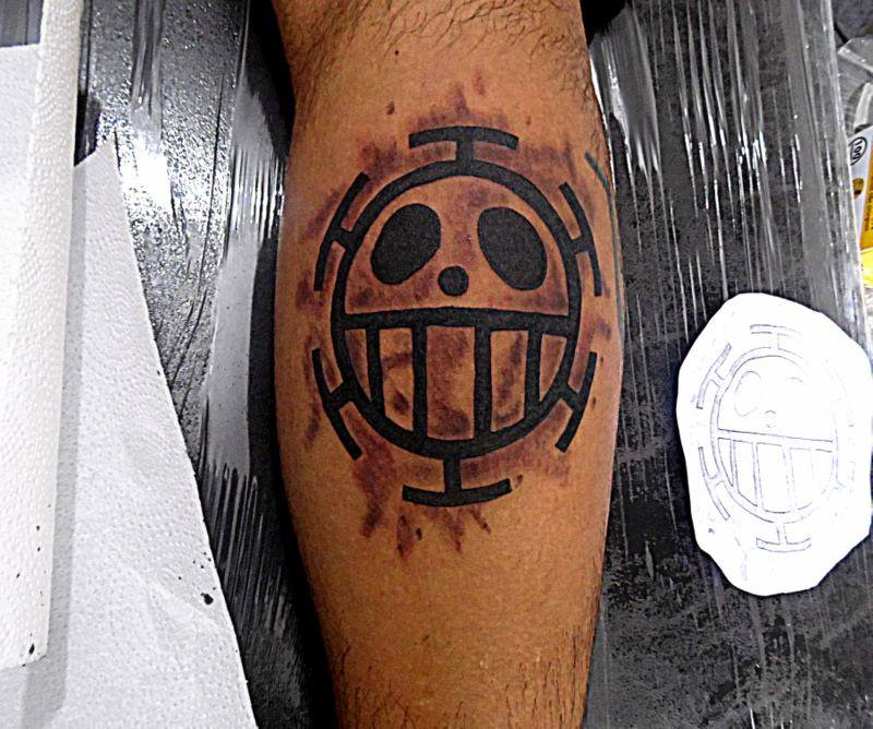 1st tattoo sent by mohamad jaafar 2nd and 3rd sent by for One piece law tattoos