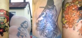 Tattoos by D.Kazakov, D.Petre, D.Buschow, Jack Chalk & Chihou Lo
