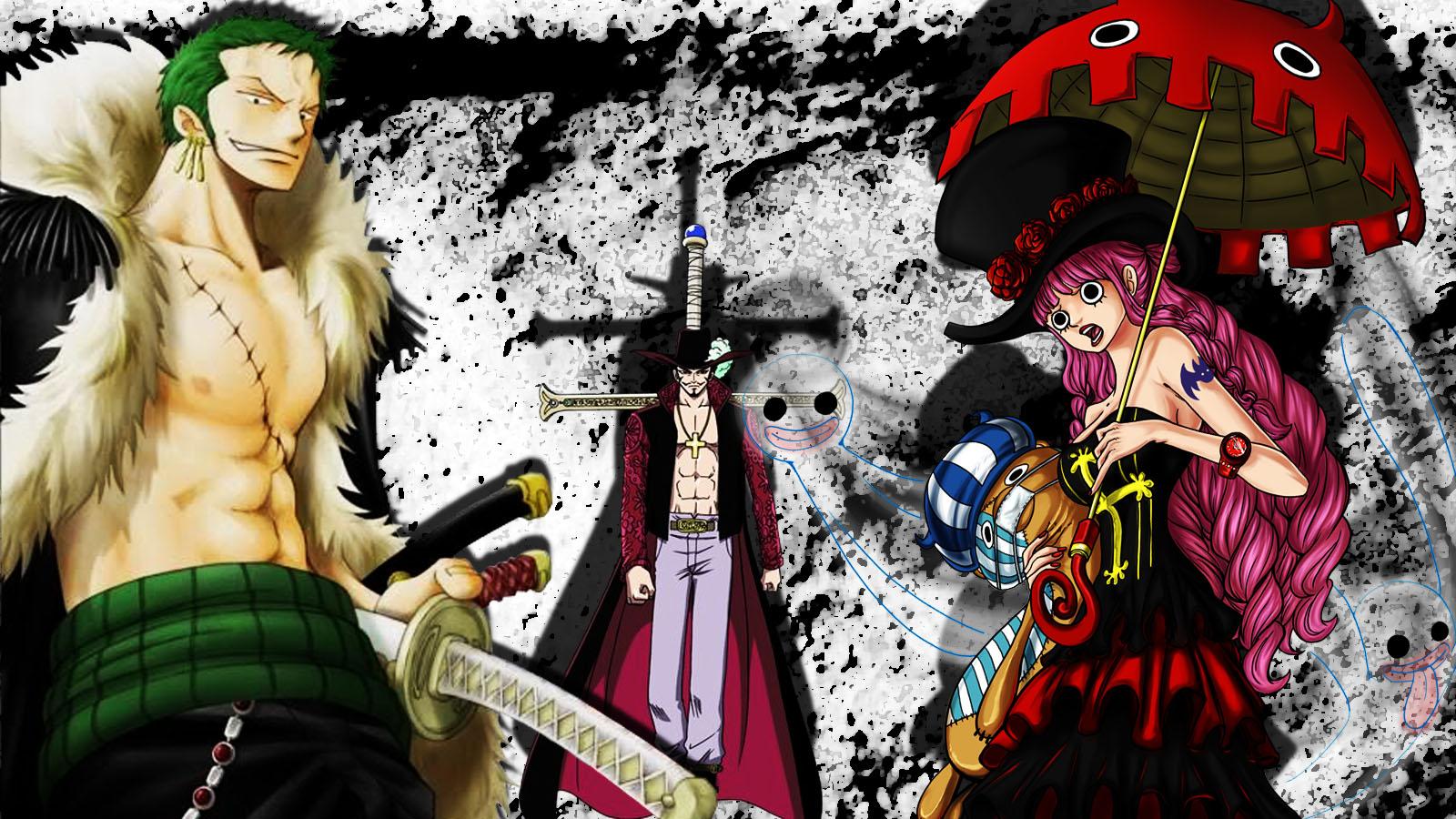 Zoro And Mihawk One Piece New World By Maceme Wallpaper