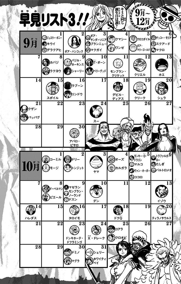 Birthday Calendar One Piece : Yonko one piece gold
